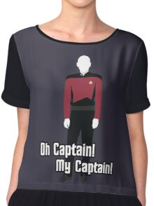 Oh Captain! My Captain! - Jean-Luc Picard - Star Trek Chiffon Top