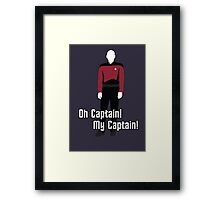 Oh Captain! My Captain! - Jean-Luc Picard - Star Trek Framed Print