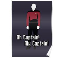 Oh Captain! My Captain! - Jean-Luc Picard - Star Trek Poster