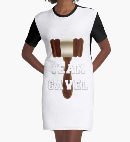 Team Gavel Graphic T-Shirt Dress