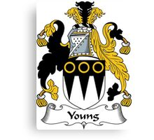 Young Coat of Arms / Young Family Crest Canvas Print