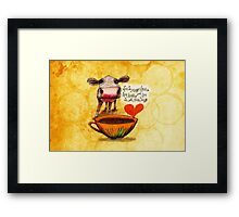 What my Coffee says to me February 16, 2016 Framed Print