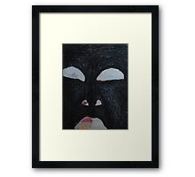 You're Standing In My Eye - Looking Out My Head Framed Print