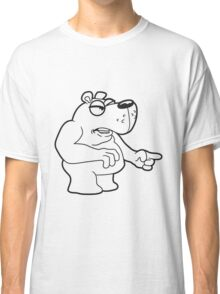 maliciously accuse angry angry bear comic cartoon funny forefinger forefinger grim grizzly teddy bear Classic T-Shirt