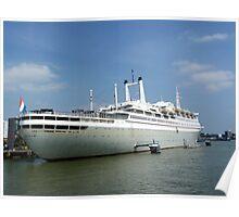THE ROTTERDAM at Rotterdam harbor Poster
