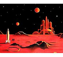 CITY ON MARS Photographic Print