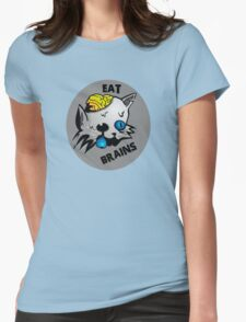 Eat brainsss! Womens Fitted T-Shirt