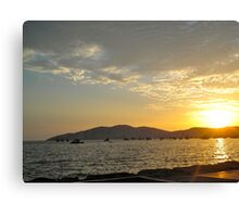 South America Pacific Ocean Sunset  Canvas Print
