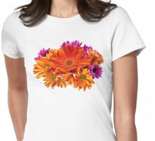 Mixed Bouquet of Gerbera Daisies and Mums Womens Fitted T-Shirt