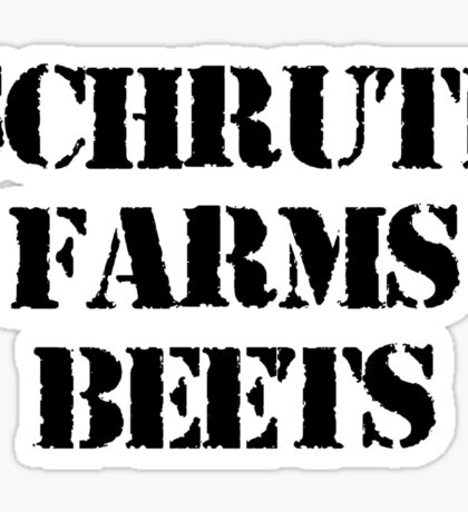 Dwight Schrute Farms Beets - The Office TV Sticker