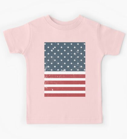 distressed american Flag  Kids Tee