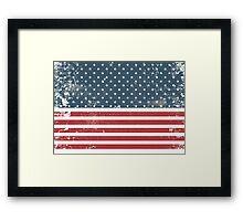 distressed american Flag  Framed Print