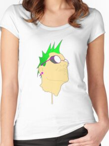 The Face of Punk Women's Fitted Scoop T-Shirt