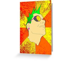 The Face of Punk Greeting Card