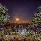 glass house mountains moon by warren dacey