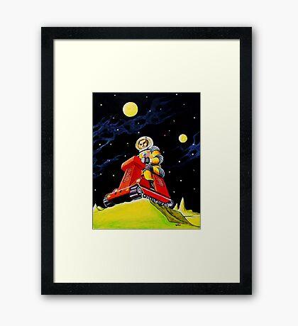 SPACE SCOUT DOUG DAVIS Framed Print
