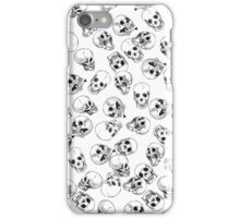 A Lot of Skulls White iPhone Case/Skin