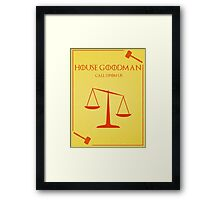 House Goodman Framed Print