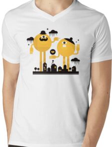 Yellow Mens V-Neck T-Shirt