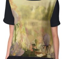 Flight of the Balloon Flowers Chiffon Top