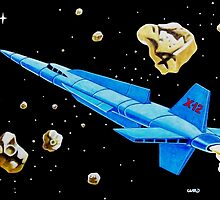 ROCKET SHIP X-12 by ward-art-studio