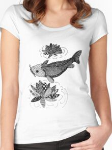 Zentangle Fish Women's Fitted Scoop T-Shirt