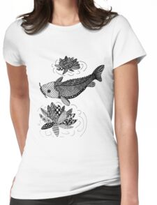 Zentangle Fish Womens Fitted T-Shirt