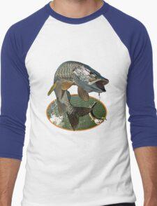 Toothy musky flight Men's Baseball ¾ T-Shirt