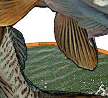 Toothy musky flight Sticker