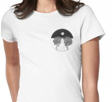 Circular landscape Womens Fitted T-Shirt