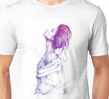 Beautiful Purple Woman Illustration Fashion Beauty Art Unisex T-Shirt