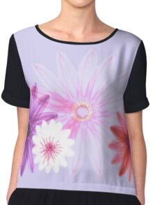 Spring Floral Chiffon Top