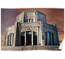 Vista House on Crown Point at Sunset Poster