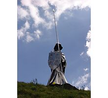 Statue of Llywelyn in Llandovery Photographic Print