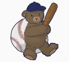 Baseball Bear One Piece - Short Sleeve