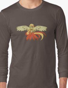 Bird Jesus feat. Helix Fossil- Twitch Plays Pokemon Long Sleeve T-Shirt