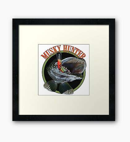 Musky hunter Framed Print