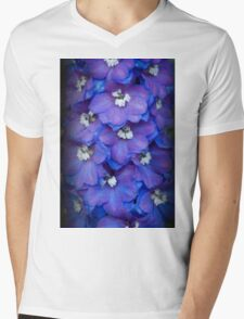 Magic Fountain - Blue Delphinium Mens V-Neck T-Shirt