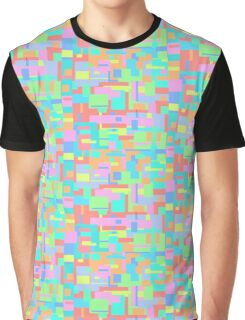 Pastel Glitch Graphic T-Shirt