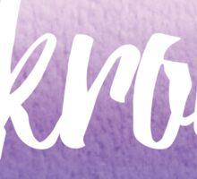 Akron, OH - purple watercolor Sticker