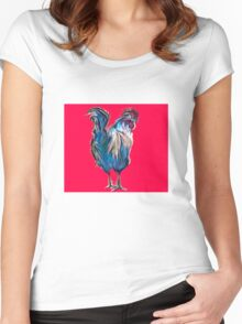 big red rooster Women's Fitted Scoop T-Shirt