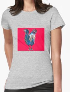 big red rooster Womens Fitted T-Shirt