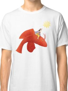 Girl on Flying Fish Classic T-Shirt