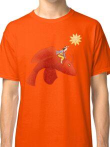 Girl on Flying Fish Classic T-Shirt