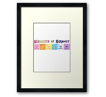 Elements of Harmony Framed Print