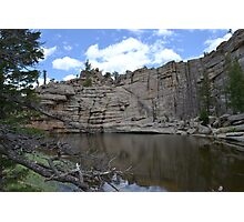 Rockwall at Gem Lake Photographic Print