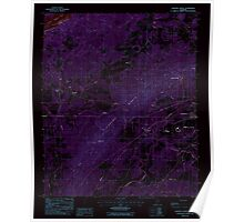 USGS TOPO Map Alabama AL Sleeping Giants 305062 1987 24000 Inverted Poster
