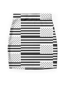 Black America in Distress Miniskirt Mini Skirt