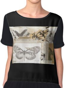Butterfly Collage Chiffon Top