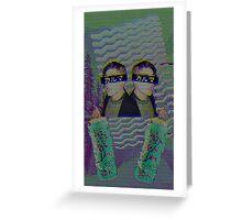 Frank Iero Vaporwave Greeting Card